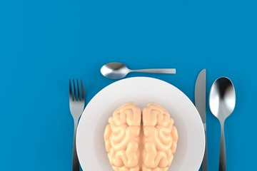 Meal with brain