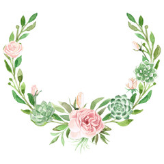 Watercolor Greenery and Floral Design