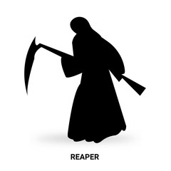 reaper silhouette isolated on white background