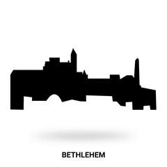 bethlehem silhouette isolated on white background