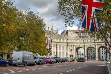 London, UK, 30 October 2012: Buckingham Palace Road