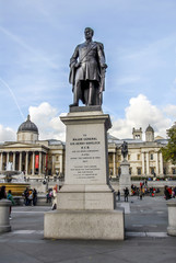 London, UK, 30 October 2012: Statue of Sir Henry Havelock at Trafalgar Square