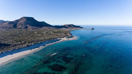 Aerial views from Cabo Pulmo national park, Baja California Sur, Mexico.