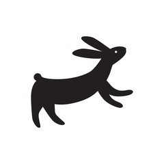 Vector illustration hare. Laser cutting