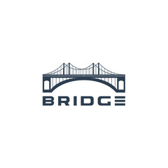 bridge logo template vector illustration