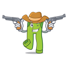 Cowboy pants character cartoon style
