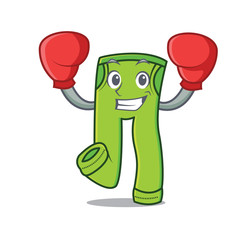 Boxing pants character cartoon style