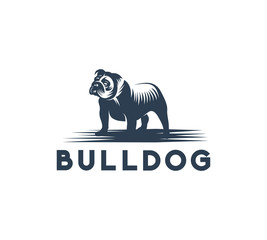 bulldog icon, logo concept, vector illustration