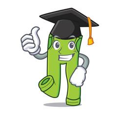 Graduation pants character cartoon style
