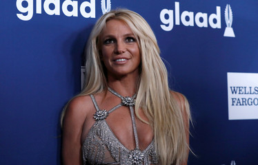 Singer Spears poses at the 29th Annual GLAAD Media Awards in Beverly Hills