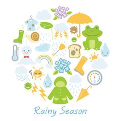 梅雨のアイコン