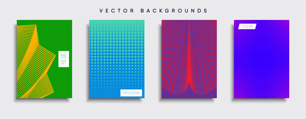 Vector cover designs. Future Poster template. Smartphone modern background set.