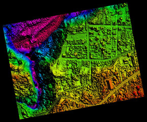 Aerial Orthorectified, Orthorectification Digital Elevation Model