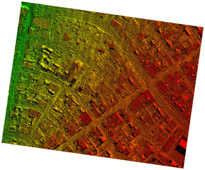 High Resolution Orthorectified, Orthorectification Aerial Map Used For Photogrammetry