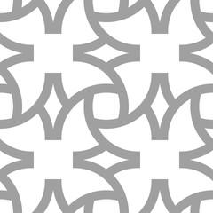 Light gray geometric ornament. Seamless pattern