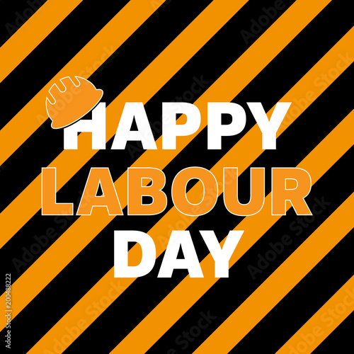 Happy labour day greeting card poster vector stock image and happy labour day greeting card poster vector m4hsunfo