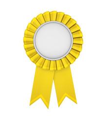 Yellow Award Ribbon Isolated