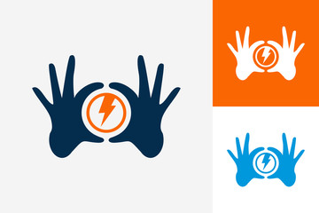 Hand Circle Power Logo Template Design Vector, Emblem, Design Concept, Creative Symbol, Icon