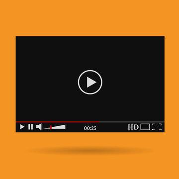 video player mock up design eps 10 vector