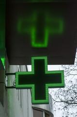 Pharmacy sign or Drug store symbol