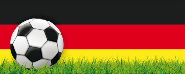 Football Side Grass German Flag Header