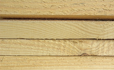 Background of wood planks, sectional view.