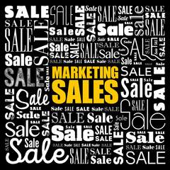 Marketing SALES word cloud collage, business concept background