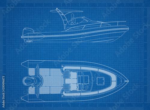 Boat blueprint stock photo and royalty free images on fotolia boat blueprint malvernweather Gallery