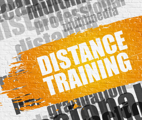 Distance Training on White Brickwall.