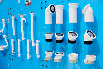 Plastic corrugated sewer pipes