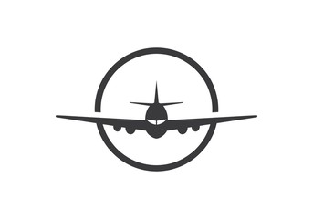 plane ilustration logo vector