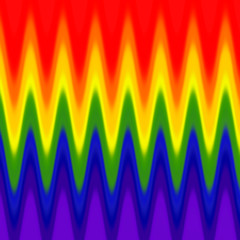 A unique digital illustration displaying the rainbow or aspects of the rainbow theme and color theory.
