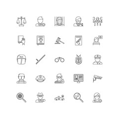law outline icons 25