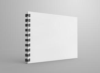 Spiral notebook in 3d render