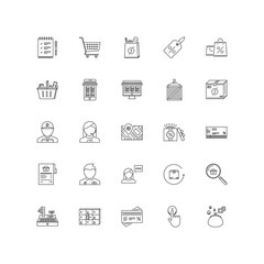 shop outline icons 25