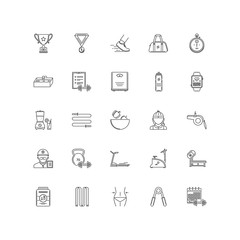 sport outline icons 25