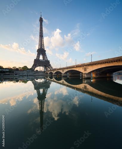 Canvas Prints Tour Eiffel Paris, Pont d'Iéna