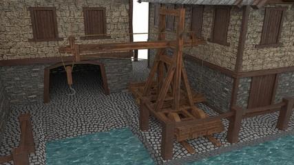 Castle Age shipyard Sliding Crane