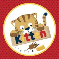 cute little animals cartoon vector