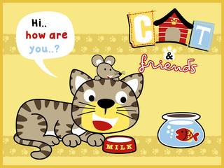 funny pets cartoon vector
