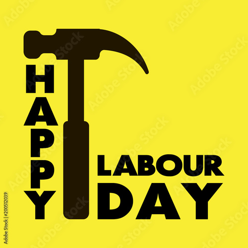 Happy labour day greeting card vector illustration stock image and happy labour day greeting card vector illustration m4hsunfo
