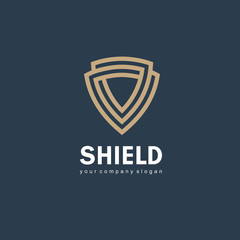 Vector logo design template. Shield sign