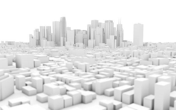 white city skyline