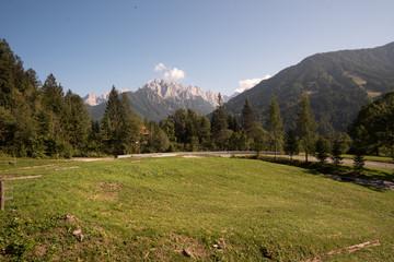 Panorama of the Triglav mountain range, Julian Alps, Slovenia