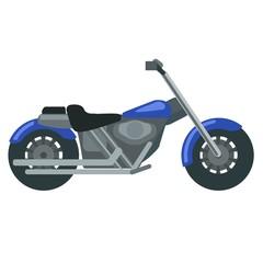 Cool lilac motorbike illustration on white background