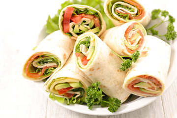 tortilla bread with vegetable