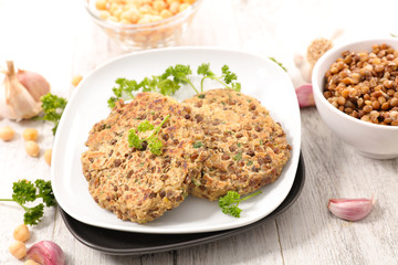vegetarian burger steak