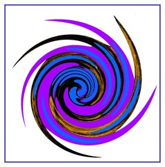 Abstraction spiral -  wortex in a purple colors