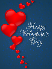nice and beautiful abstract, banner or poster for Valentine's Day with nice and creative design illustration in a background.
