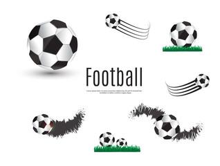 the ball lies on the grass. a football match. vector illustration. A beautiful ball and green grass.Soccer league flyer design template. Soccer poster invitation football sports.
